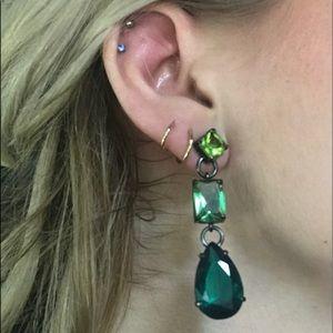 Jewel Mint Ombré emerald Earrings